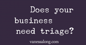 Are You Ready to Triage Your Business and Life?
